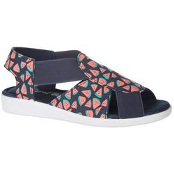 Coral Bay Womens Maggie Watermelon Casual Sandals