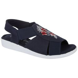 Womens Maggie Embroidered Icon Casual Sandals