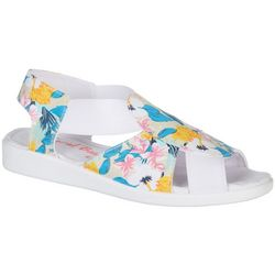 Coral Bay Womens Maggie Bright Floral Casual Sandals