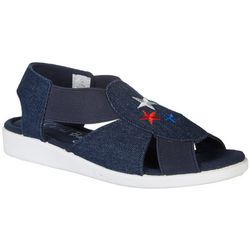 Coral Bay Womens Maggie Patriotic Stars Sandals