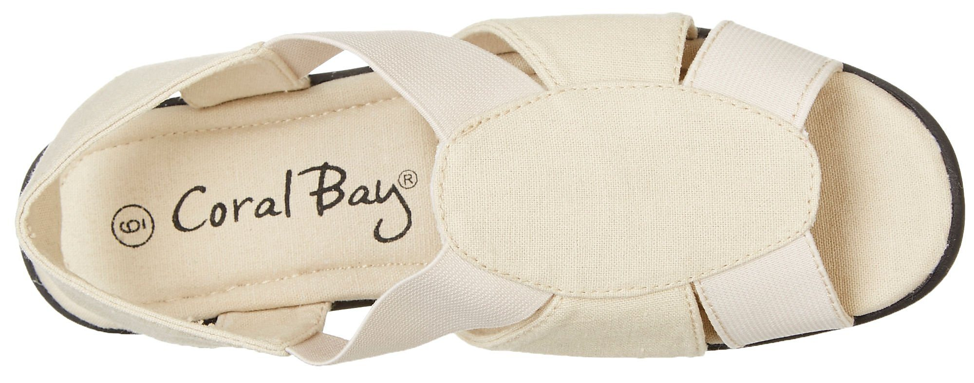 277bd84a1 Coral Bay Womens Maggie Memory Foam Sandals with Slip Resistant ...