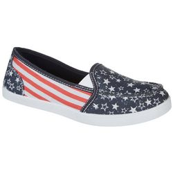 Coral Bay Womens Ava Flag Canvas Shoes