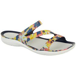 Crocs Womens Swiftwater Tie Dye Sandals