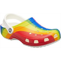 Crocs Womens Classic Rainbow Clogs