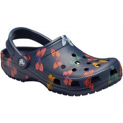 Crocs Womens Classic Vibrant Pattern Clogs