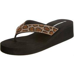 Womens Animal Flip Flops