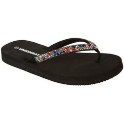 Womens Maggie Jeweled Flip Flops