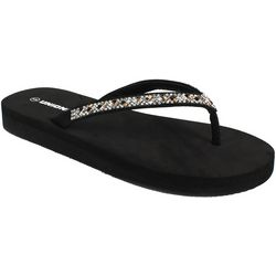 Unionbay Womens Kiki Jeweled Flip Flops
