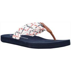 Tommy Hilfiger Womens Comp Flip Flops