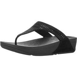 Womens Incastone Thong Wedge Sandal