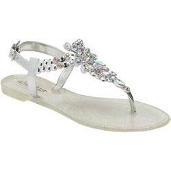 Olivia Miller Womens Bling Jelly Sandals