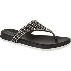 Olivia Miller Ornamented Thong Flip Flops