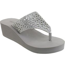 Olivia Miller Womens TYOM-133 Wedge Sandals