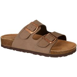 Dept 222 Womens Lane 2 Strap Suede Footbed Sandals