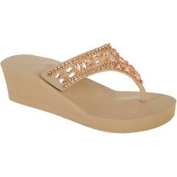 Coral Bay Womens Ilda Thong Sandals