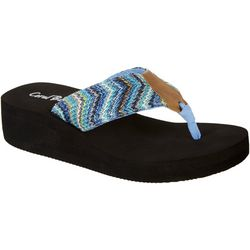 Coral Bay Womens Frosty Flip Flops