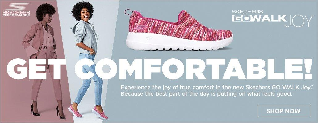 Get Comfortable! Experience the joy of true comfort in the new Skechers Go Walk Joy. Because the best part of the day is putting on what feels good. Skechers Go Walk Joy | Shop Now