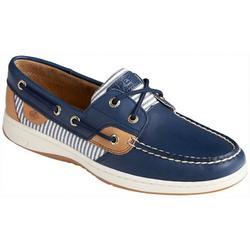 Womens Blue Fish Boat Shoe