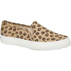 Keds Womens Double Decker Leopard Canvas Shoe