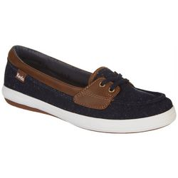 Keds Womens Glimmer Speckle Boat Shoes