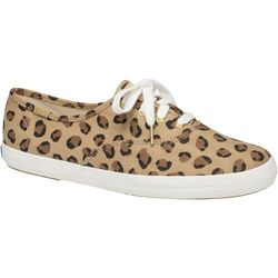 Keds Womens Champion Leopard Sneakers