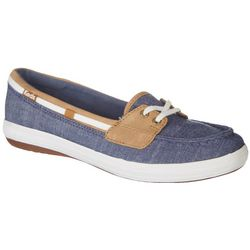 Keds Womens Glimmer Blue Boat Shoes