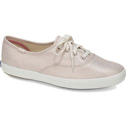 Keds Womens Champion Metallic Linen Sneakers