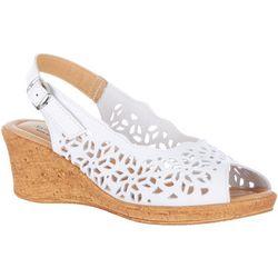 Spring Step Womens Footsie Peep Toe Wedge Sandals