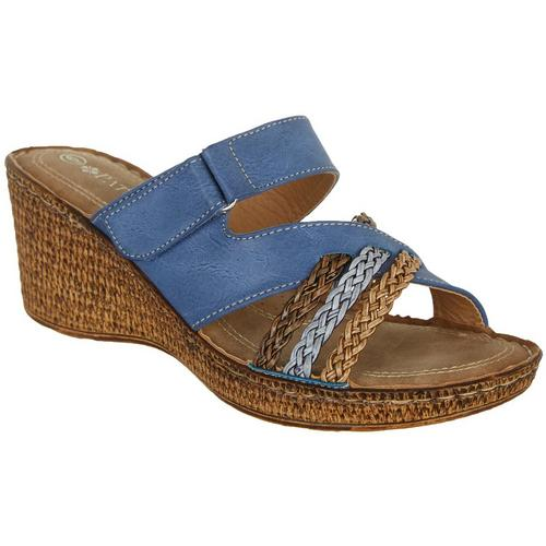 5f0091b16320 Patrizia by Spring Step Womens Mica Wedge Heel Sandals