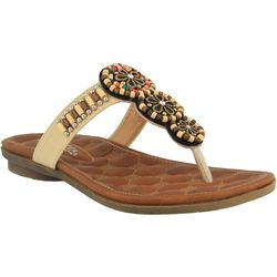 Patrizia by Spring Step Womens Oneida Beaded Thong Sandals