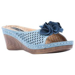 GC SHOES Womens Julliet Wedge Sandals