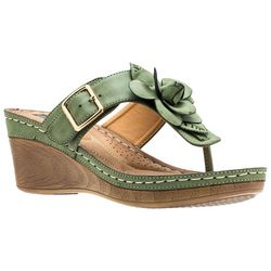 GC SHOES Womens Flora Flower Thong Sandals