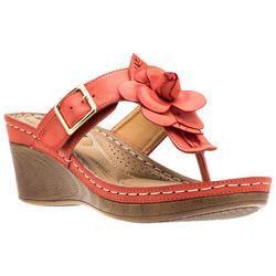 Womens Flora Flower Thong Sandals
