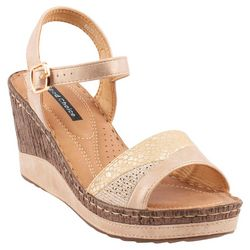GC SHOES Womens Rozz Wedge Sandals