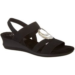 IMPO Womens Gracen Stretch Wedge Sandals