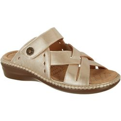 Coral Bay Women's Jenna Slide-On Sandals