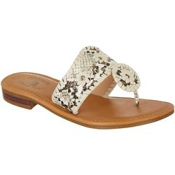 Sunsets and Sweet Tea Womens Kate Snake Print Sandals