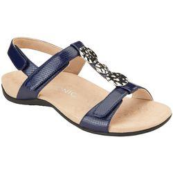 Vionic Womens Farra Lizard Texture Sandals