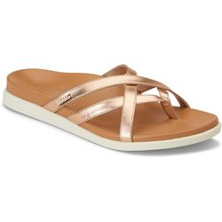 Vionic Womens Daisy Rose Gold Tone Sandals