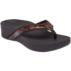 Vionic Womens High Tide Wedge Flip Flops