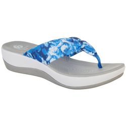 Clarks Womens Cloudsteppers Arla Glison Printed Flip Flops