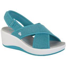 8a9bc5e649e9e3 Clarks Womens Step Cali Sandals Quick View. AQUA BLUE