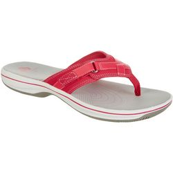 094e27505d1dfa Clarks Womens Cloudsteppers Breeze Sea Flip Flops