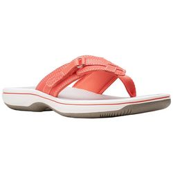 Clarks Womens Cloudsteppers Breeze Sea Flip Flops
