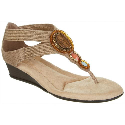 Mia Amore Womens Bryanna Comfort Wedge Sandals Bealls