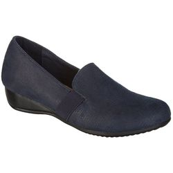 Coral Bay Collections Womens Lacy Navy Loafers