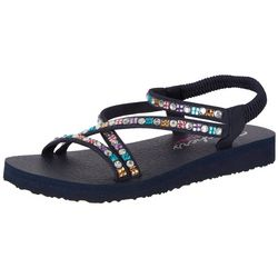Skechers Womens Meditation Sparkle Chick Sandal