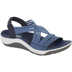 Skechers Womens Reggae Cup Oh, Snap! Sandals