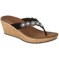 Womens CALI Beverlee Bizzy Babe Wedge Thong Sandals