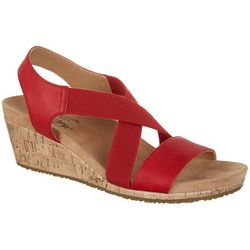 LifeStride Womens Mexico Wedge Sandals